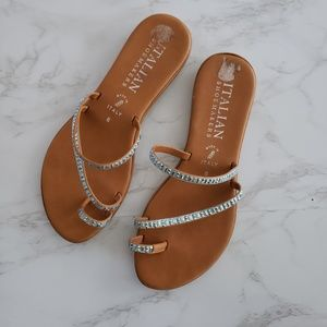Italian Shoe makers ] embellished sandal